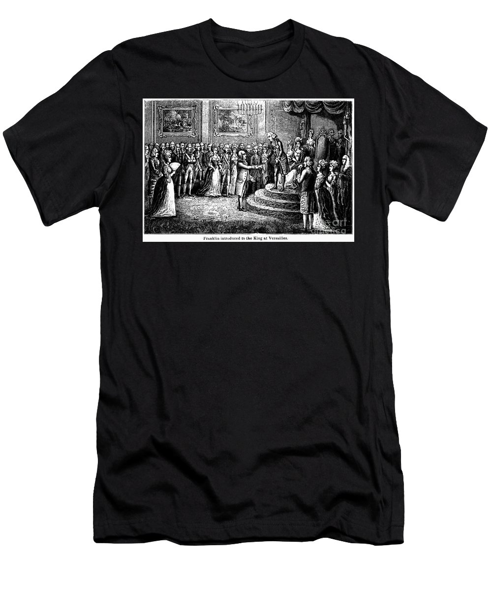 1778 Men's T-Shirt (Athletic Fit) featuring the photograph Benjamin Franklin by Granger