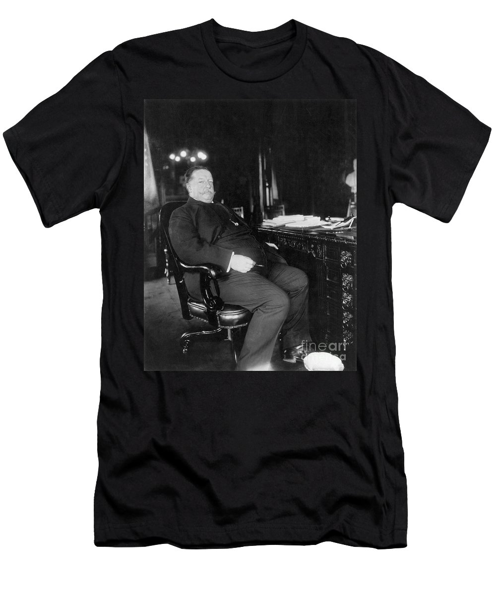 1909 Men's T-Shirt (Athletic Fit) featuring the photograph William Howard Taft by Granger