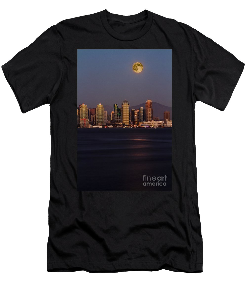 Blue Men's T-Shirt (Athletic Fit) featuring the photograph 8012 by Daniel Knighton