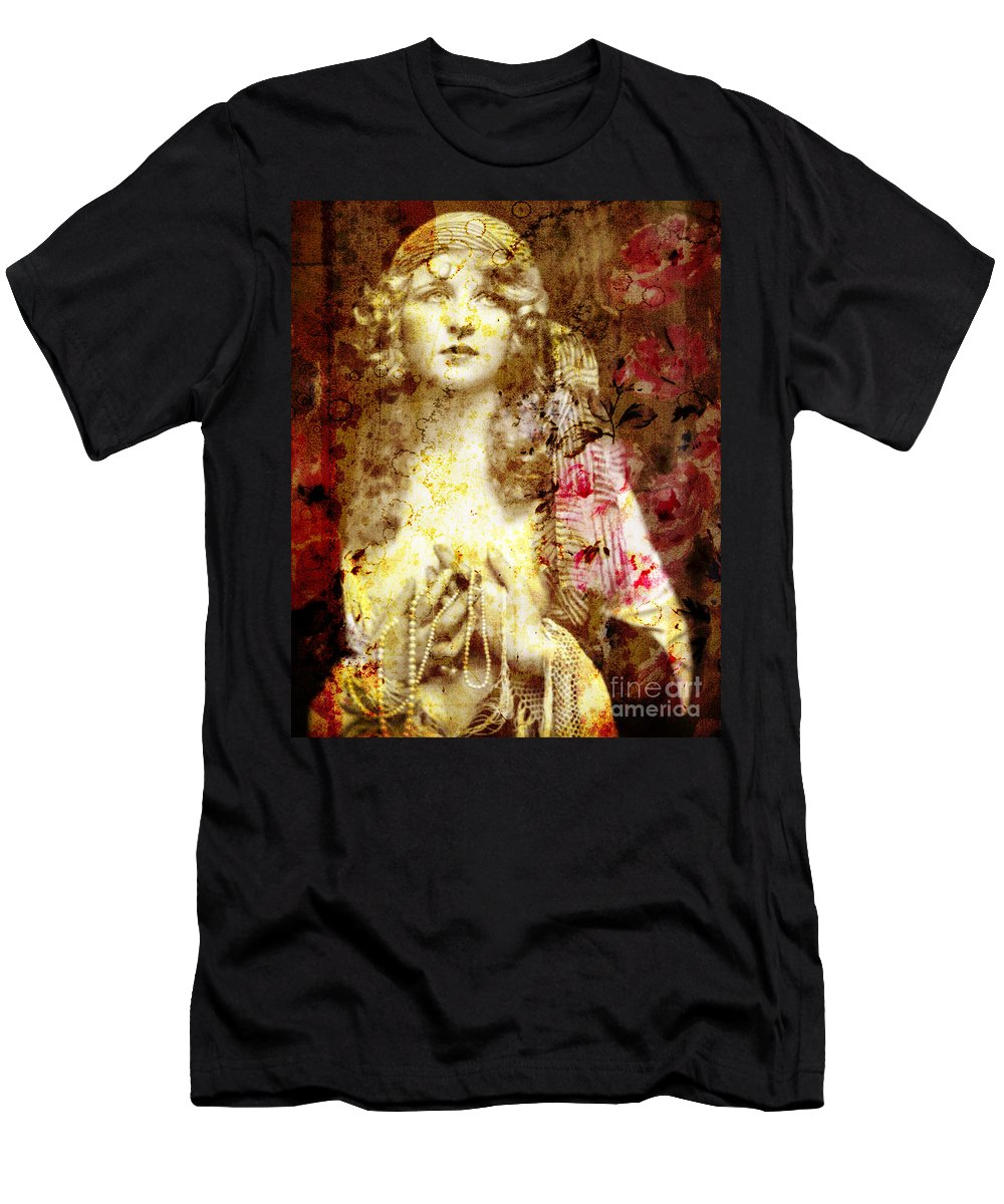 Nostalgic Seduction Men's T-Shirt (Athletic Fit) featuring the photograph Winsome Woman by Chris Andruskiewicz