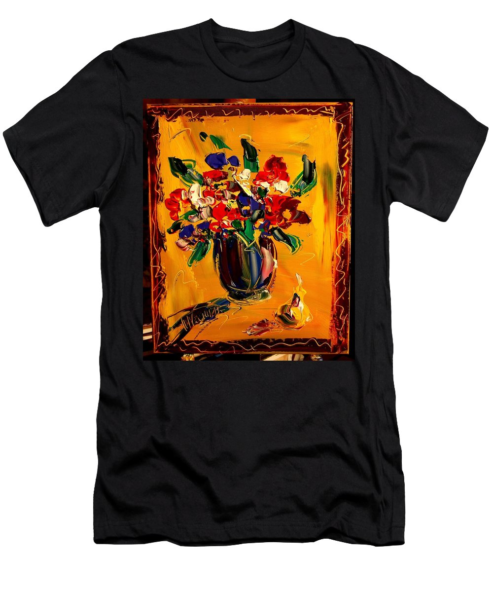 Men's T-Shirt (Athletic Fit) featuring the mixed media Flowers by Mark Kazav