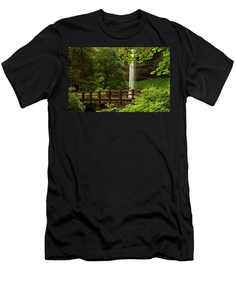 South Falls Men's T-Shirt (Athletic Fit) featuring the photograph A Hidden Gem by Vivian Christopher