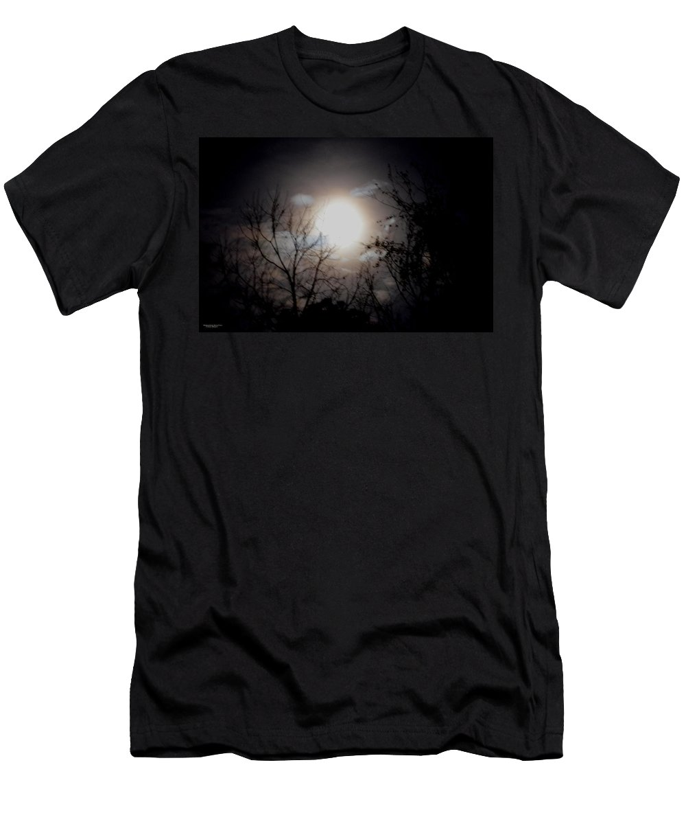 Silhouette Men's T-Shirt (Athletic Fit) featuring the photograph A Lunar Silhouette by Maria Urso
