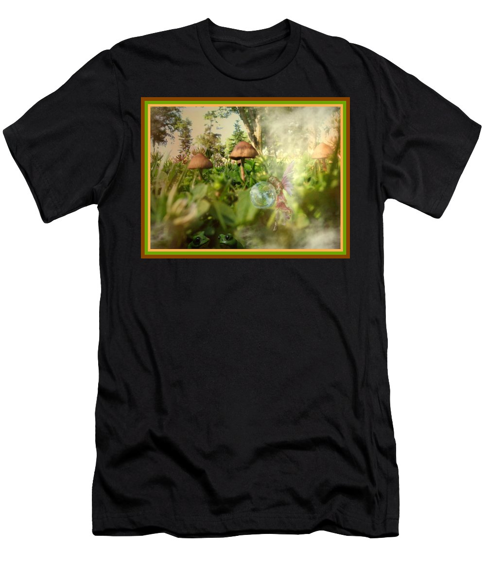 Park Men's T-Shirt (Athletic Fit) featuring the photograph A Magical Place by Joyce Dickens