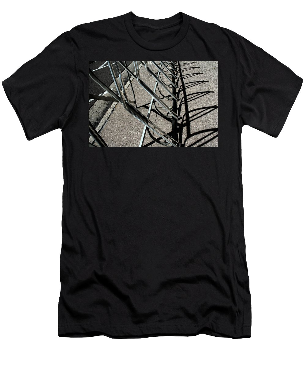 Abstract Men's T-Shirt (Athletic Fit) featuring the photograph A Rack Of Shadows by Ric Bascobert