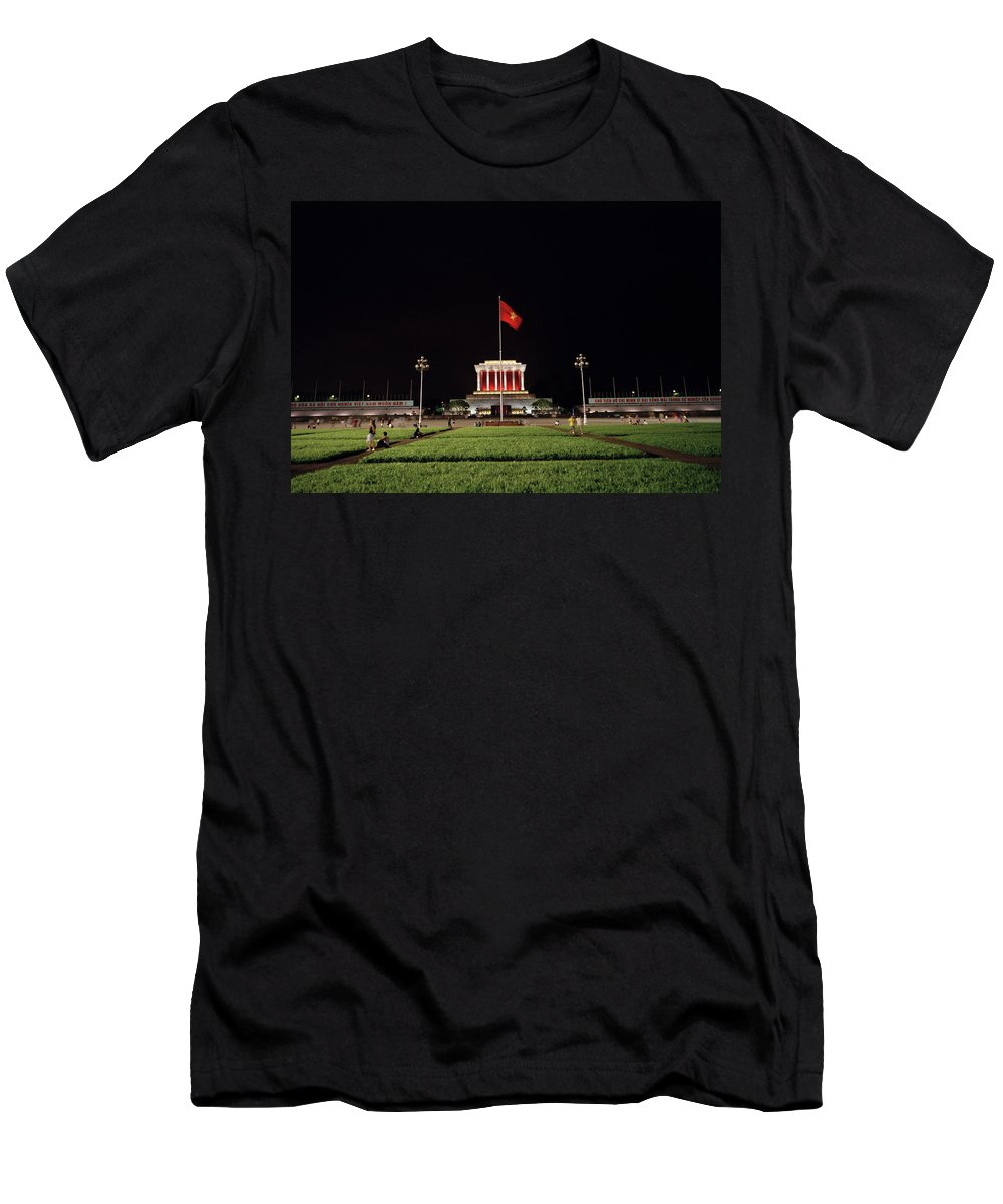 Asia Men's T-Shirt (Athletic Fit) featuring the photograph A Serene Ho Chi Minh Mausoleum by Shaun Higson