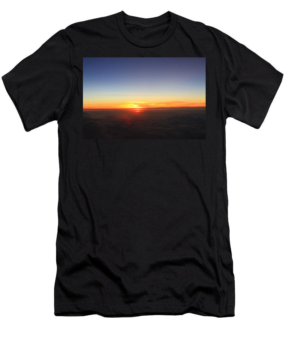 Sunset Men's T-Shirt (Athletic Fit) featuring the photograph Above The Ground by Catie Canetti