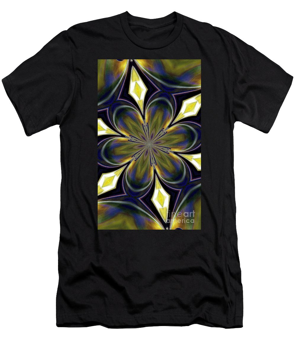 Abstract Men's T-Shirt (Athletic Fit) featuring the digital art Abstract 004 by Maria Urso
