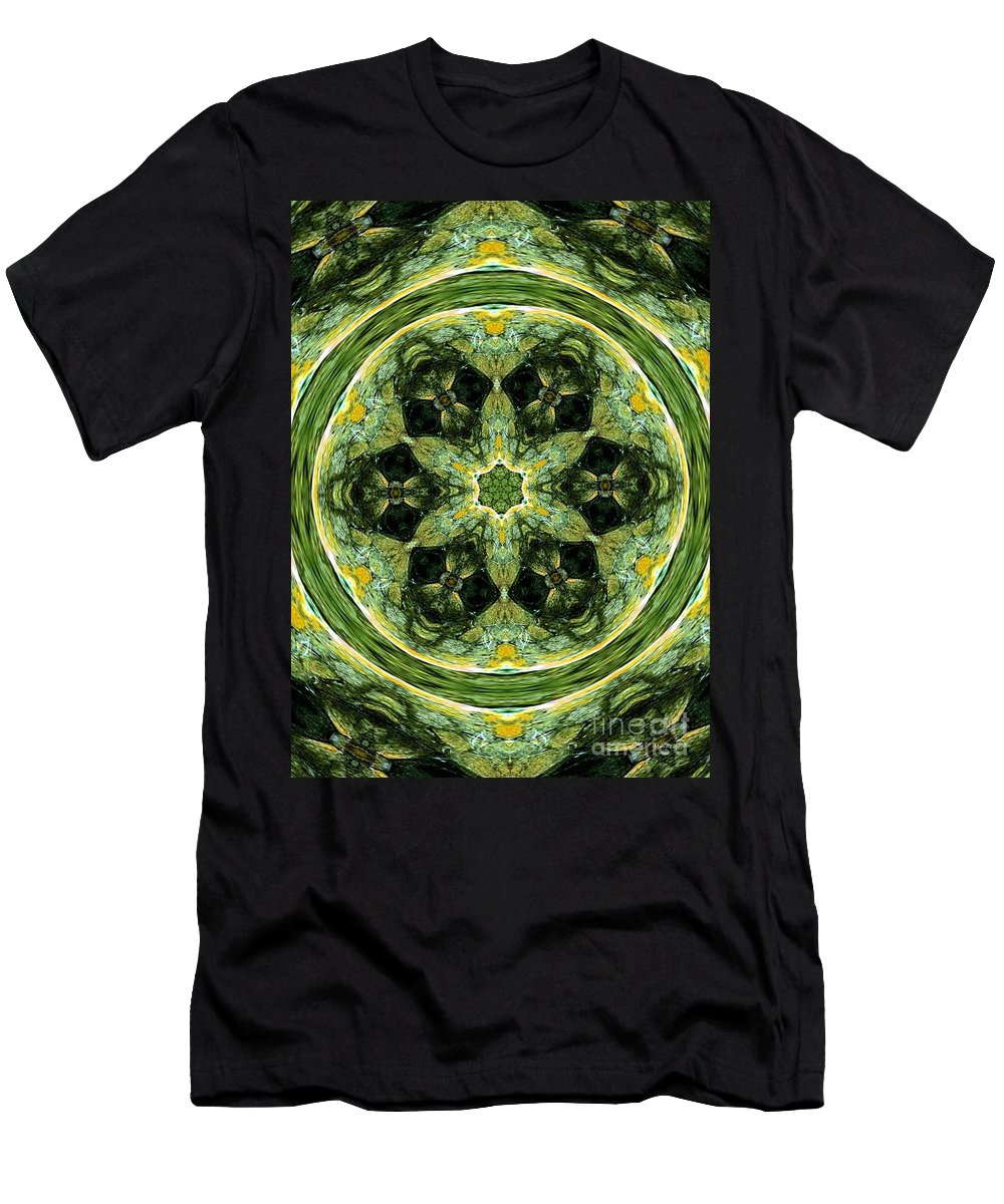 Abstract Men's T-Shirt (Athletic Fit) featuring the digital art Abstract 007 by Maria Urso