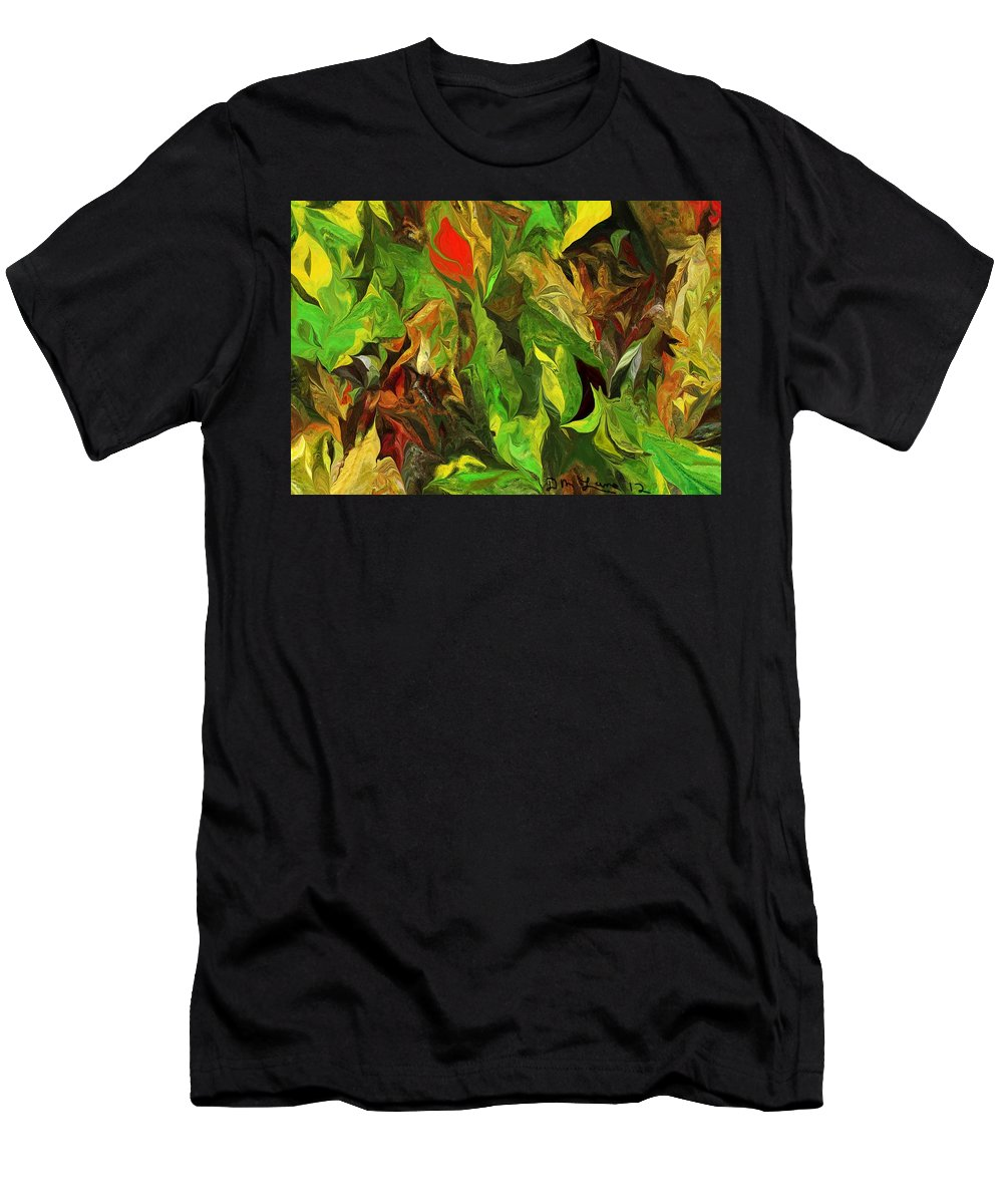 Fine Art Men's T-Shirt (Athletic Fit) featuring the digital art Abstract 090512a by David Lane