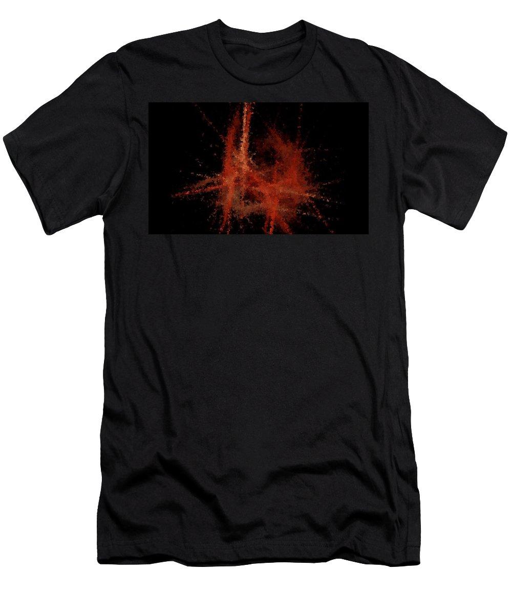 Paris Men's T-Shirt (Athletic Fit) featuring the digital art Abstract A Paris Evening by David Dehner