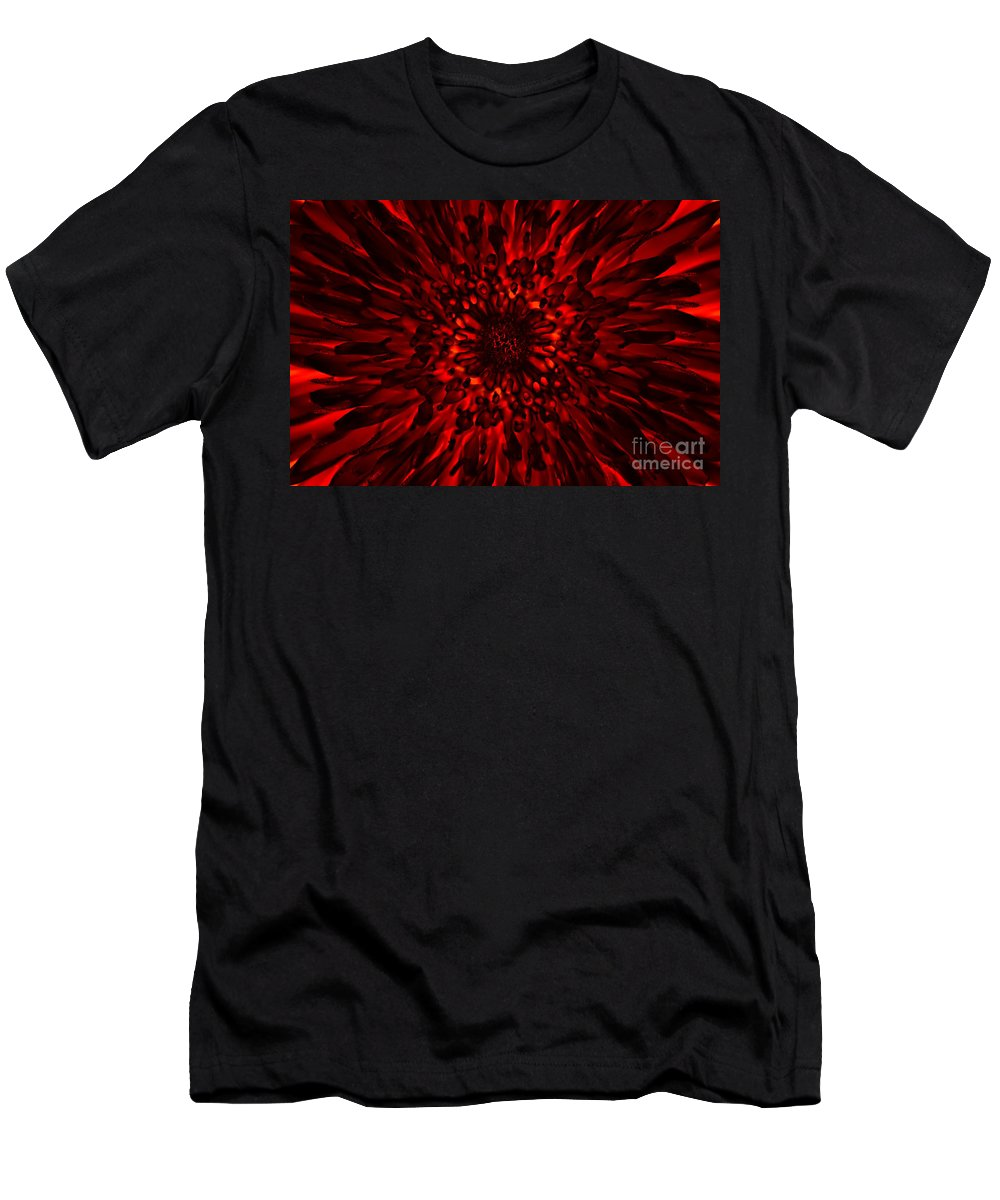 Abstract Men's T-Shirt (Athletic Fit) featuring the digital art Abstract Flower by Michal Boubin