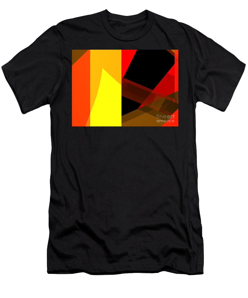 Abstract Men's T-Shirt (Athletic Fit) featuring the digital art Abstract Tan 10 by Russell Kightley