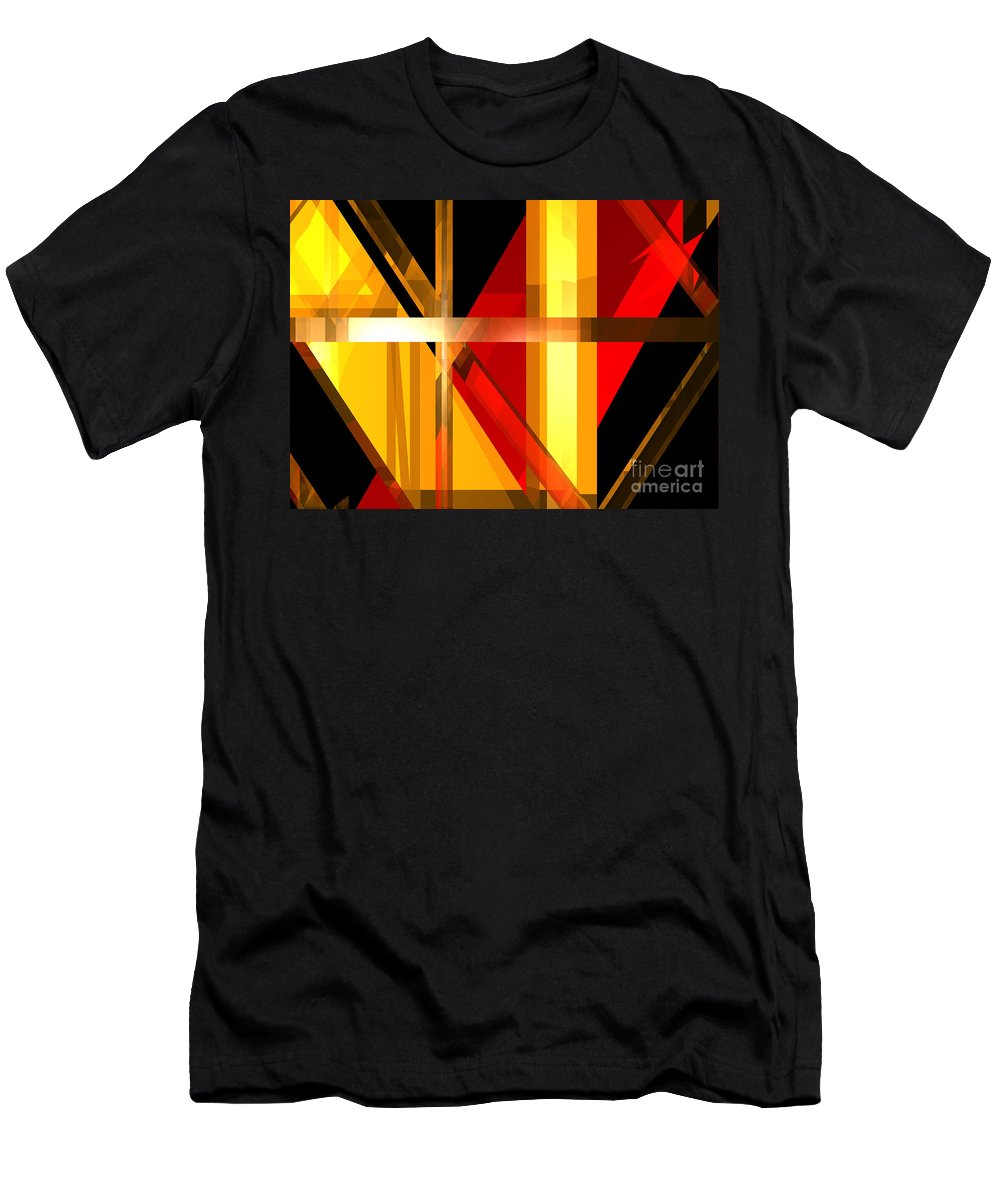 Abstract Men's T-Shirt (Athletic Fit) featuring the digital art Abstract Tan 7 by Russell Kightley
