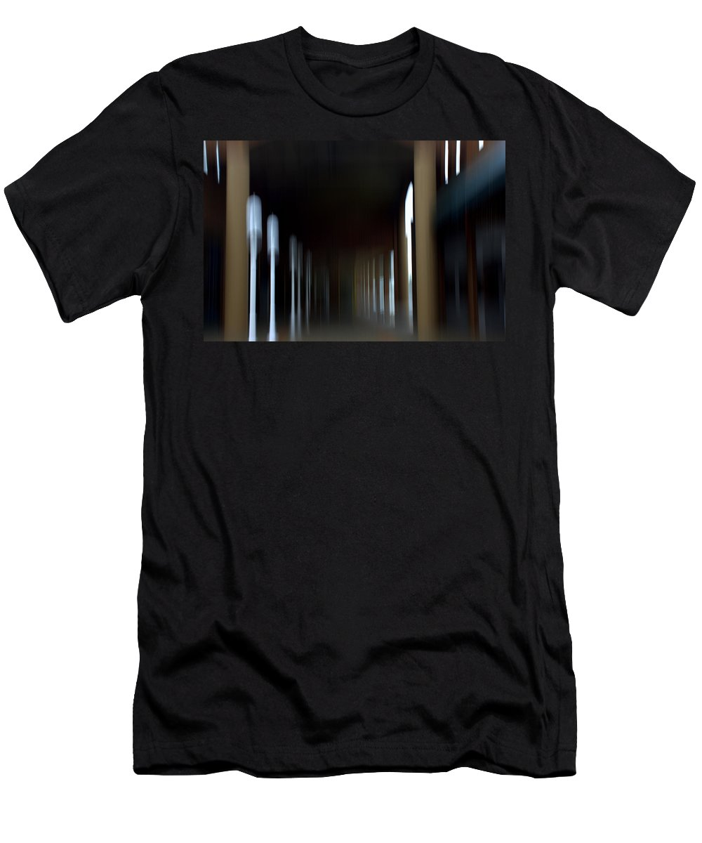Men's T-Shirt (Athletic Fit) featuring the mixed media Abyss Looks Back by Terence Morrissey