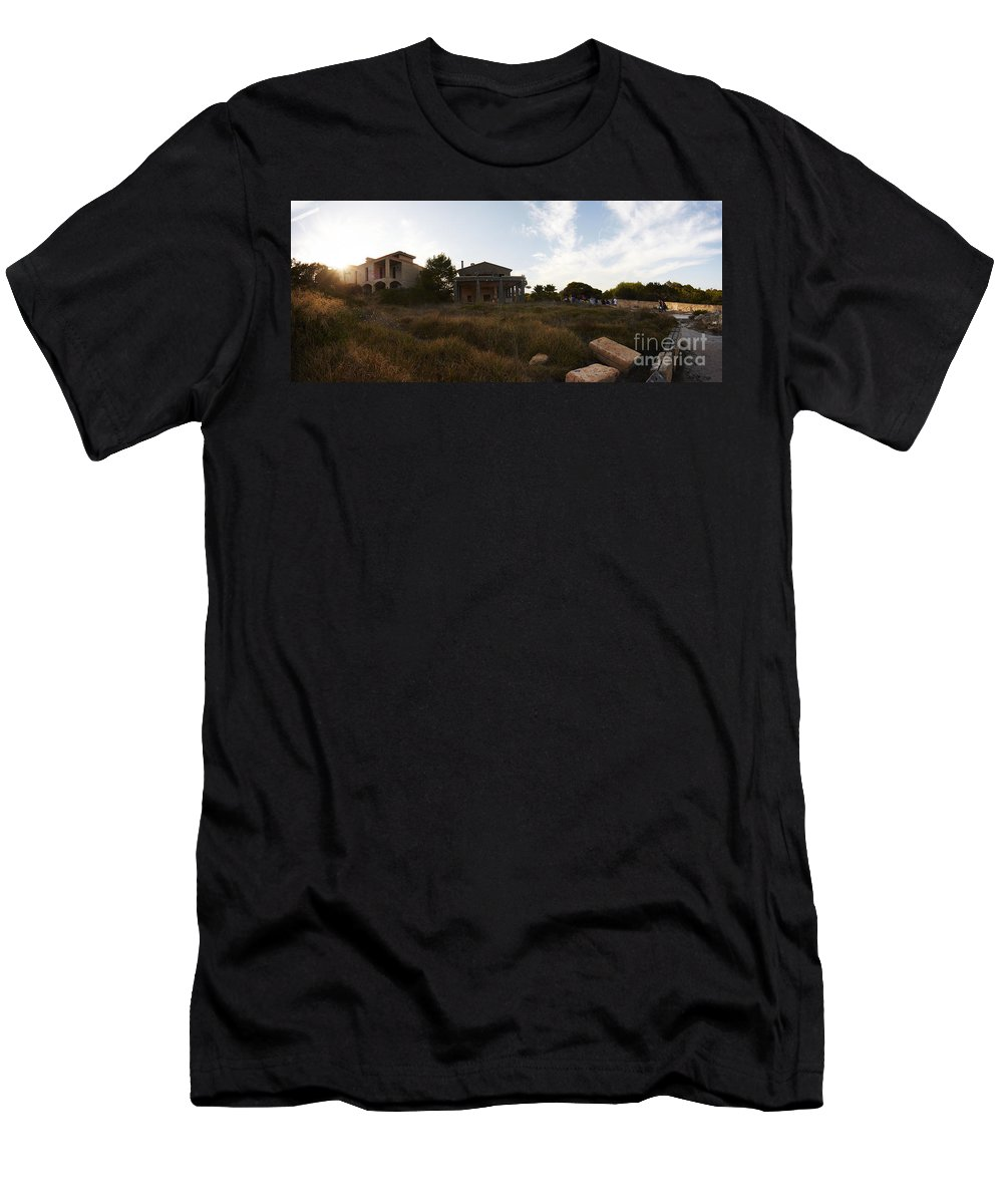 Mallorca Men's T-Shirt (Athletic Fit) featuring the photograph Acces To Es Trenc by Agusti Pardo Rossello