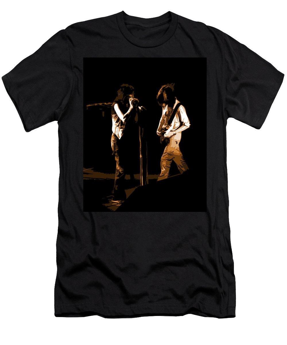 Aerosmith Men's T-Shirt (Athletic Fit) featuring the photograph Aerosmith In Spokane 29b by Ben Upham