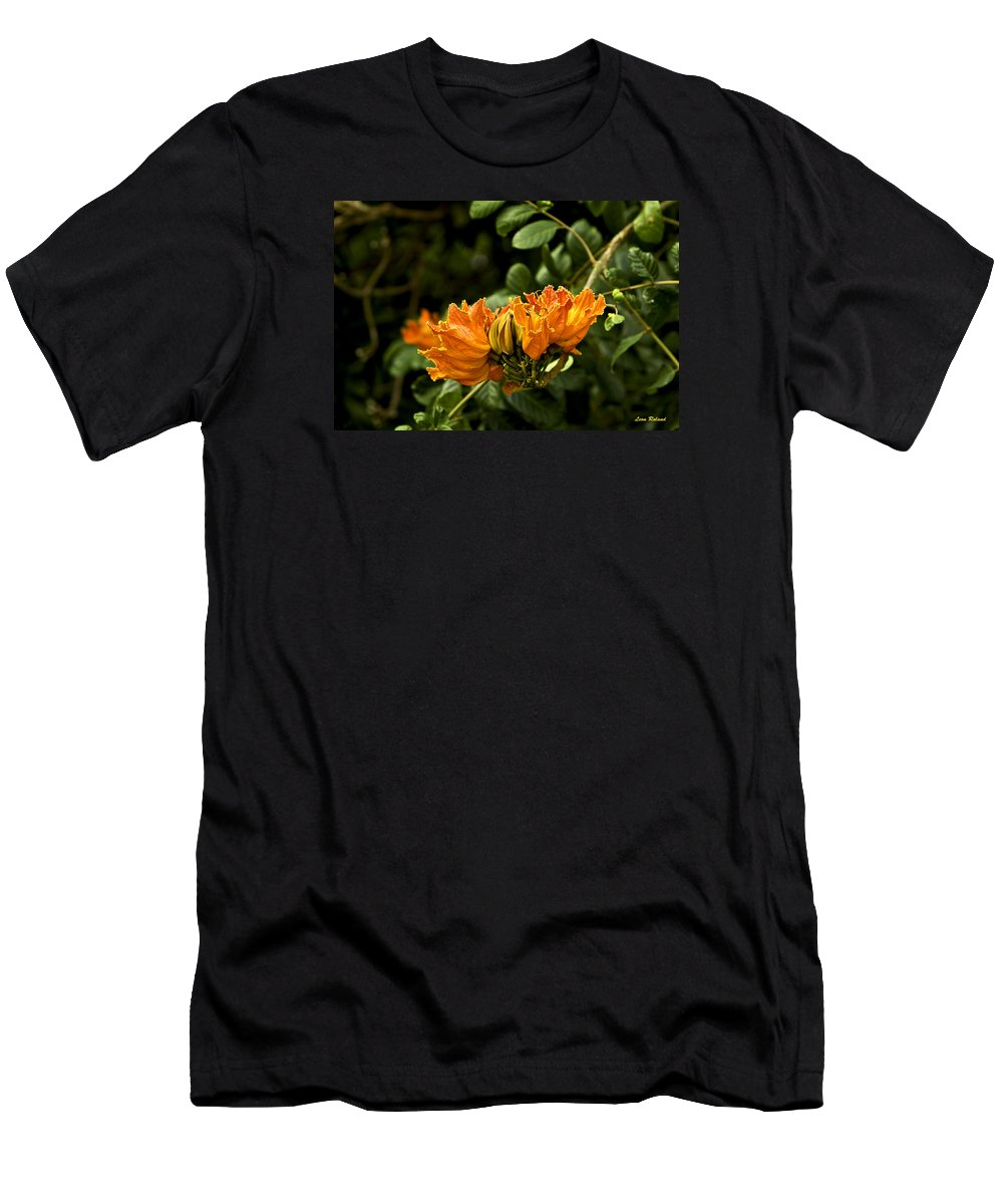 Flowers Men's T-Shirt (Athletic Fit) featuring the photograph African Tulip Tree by Leon Roland