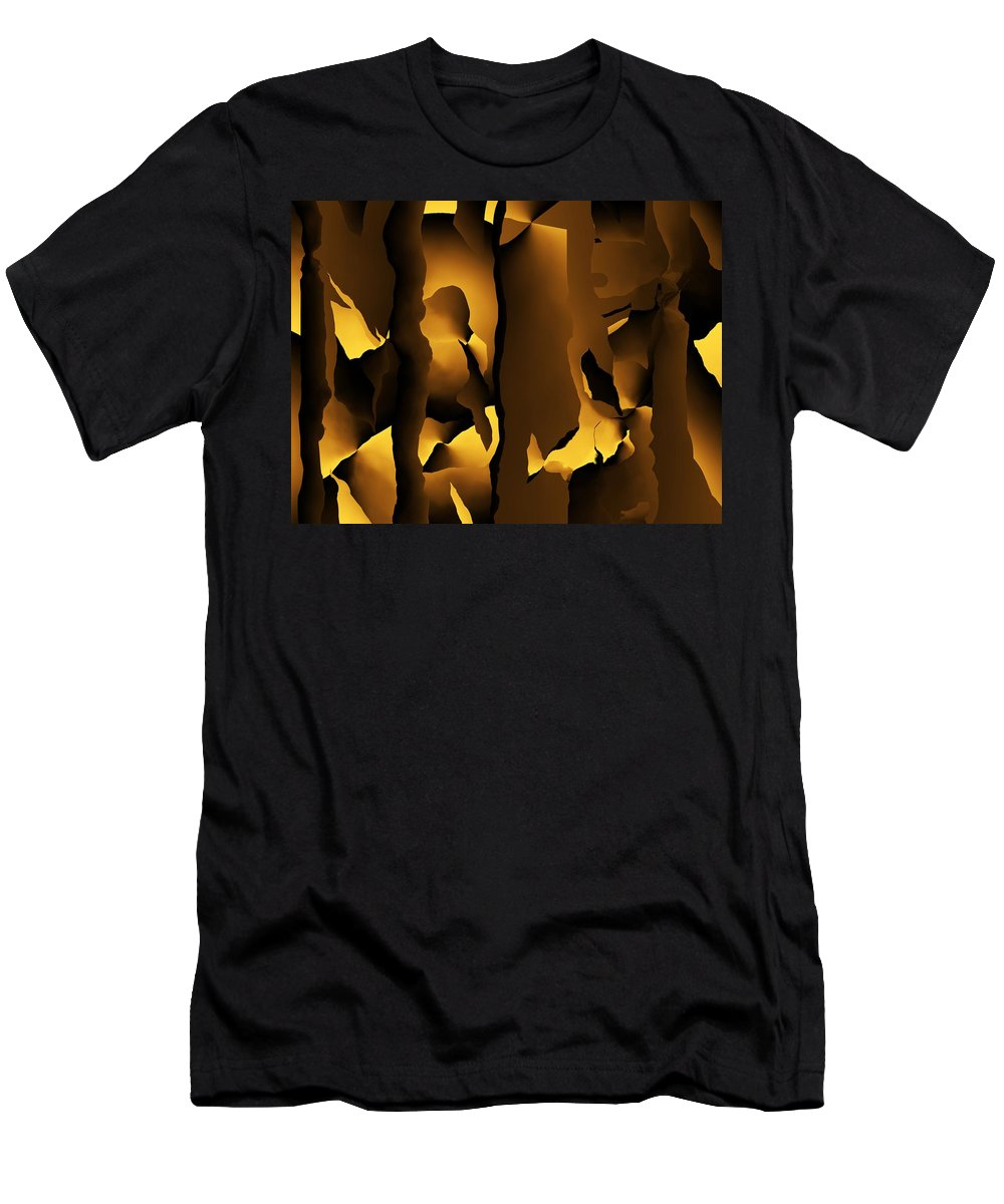 Fine Art Men's T-Shirt (Athletic Fit) featuring the digital art After The Fall 1 072712 by David Lane