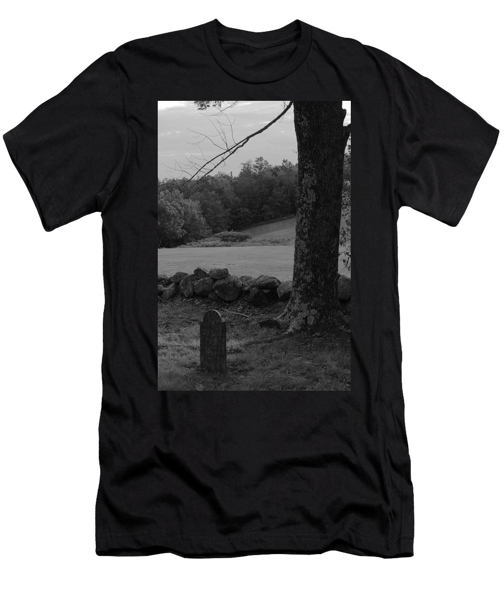 Graves Men's T-Shirt (Athletic Fit) featuring the photograph Alone by Jeff Heimlich