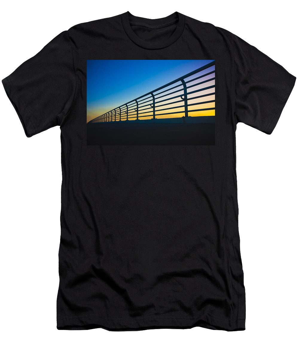 Ringling Men's T-Shirt (Athletic Fit) featuring the photograph Along The Bridge by Betsy Knapp