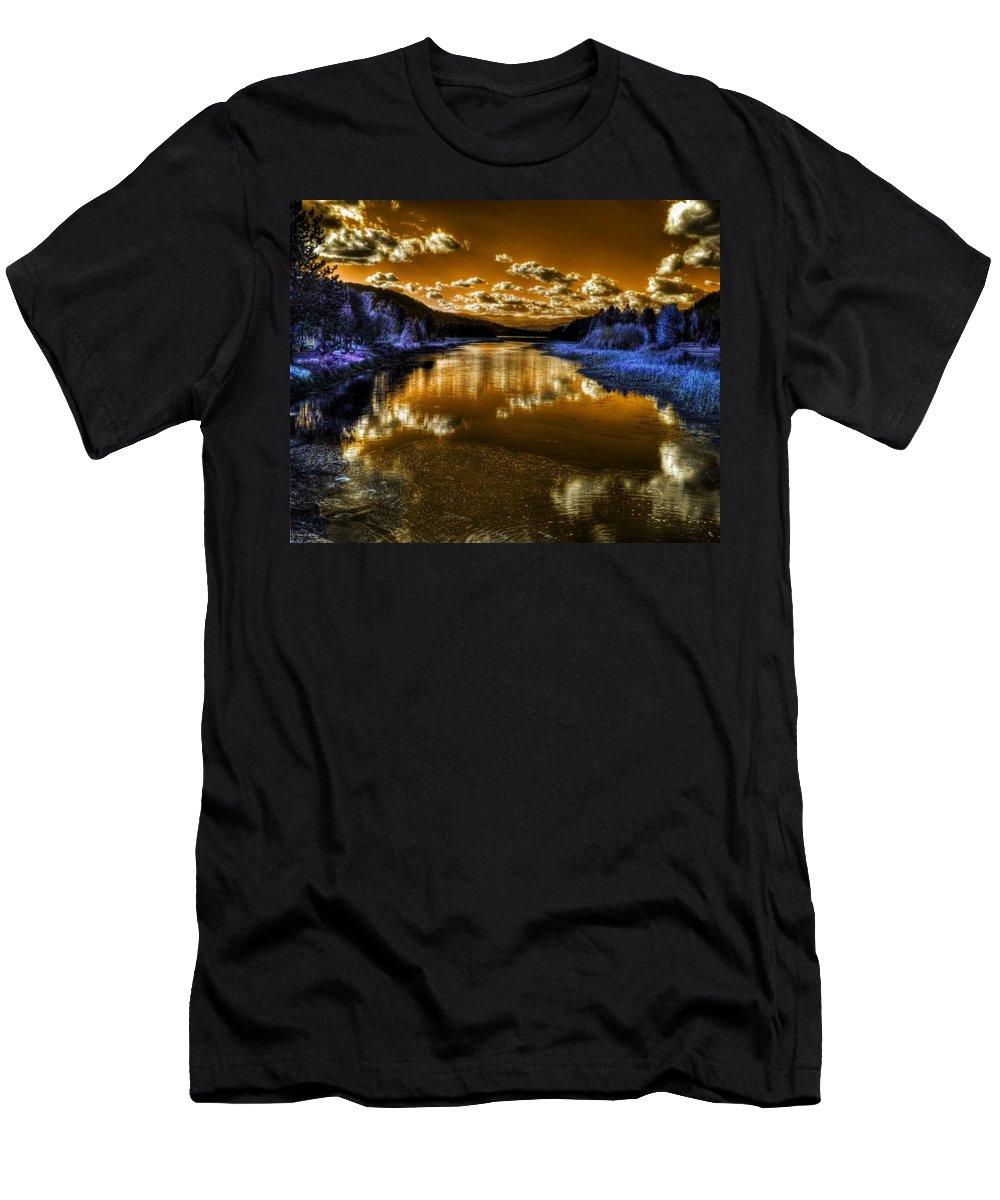 Digital Fantasy Men's T-Shirt (Athletic Fit) featuring the photograph An Idaho Fantasy 2 by Lee Santa