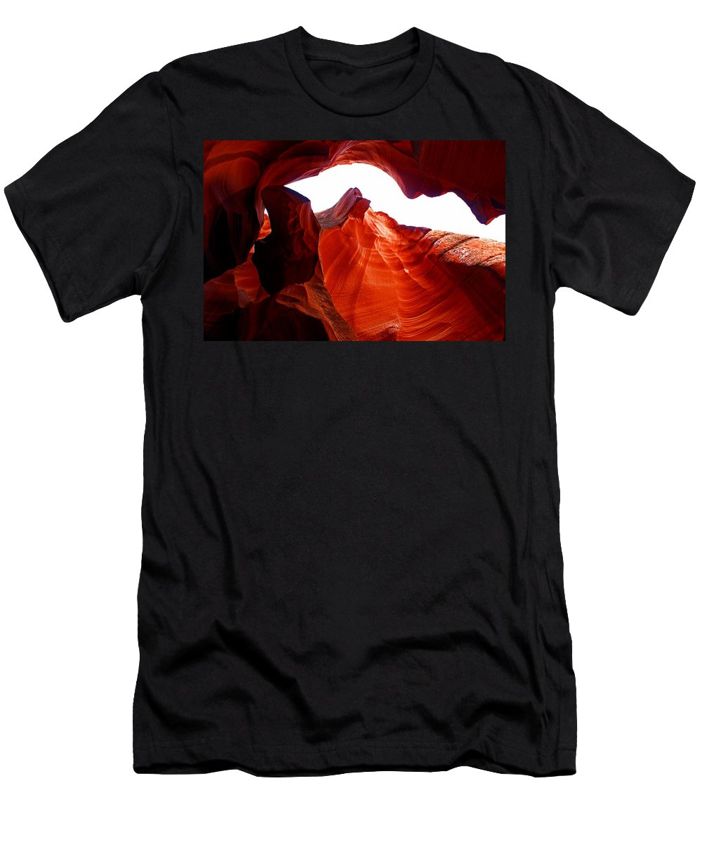 Antelope Canyon Men's T-Shirt (Athletic Fit) featuring the photograph Antelope Canyon Skylight by Brian Kerls