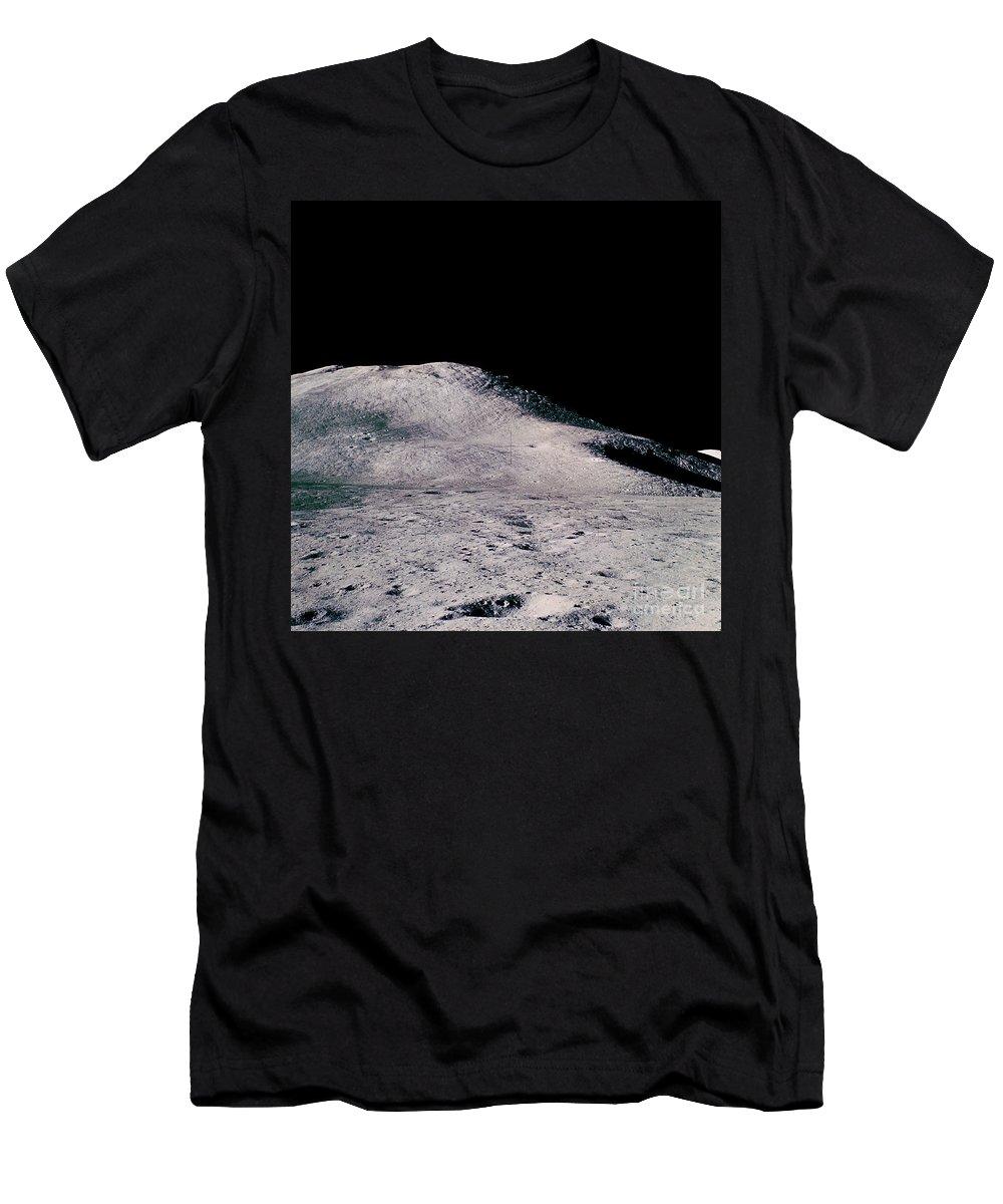 Apollo Men's T-Shirt (Athletic Fit) featuring the photograph Apollo 15 Lunar Landscape by Nasa