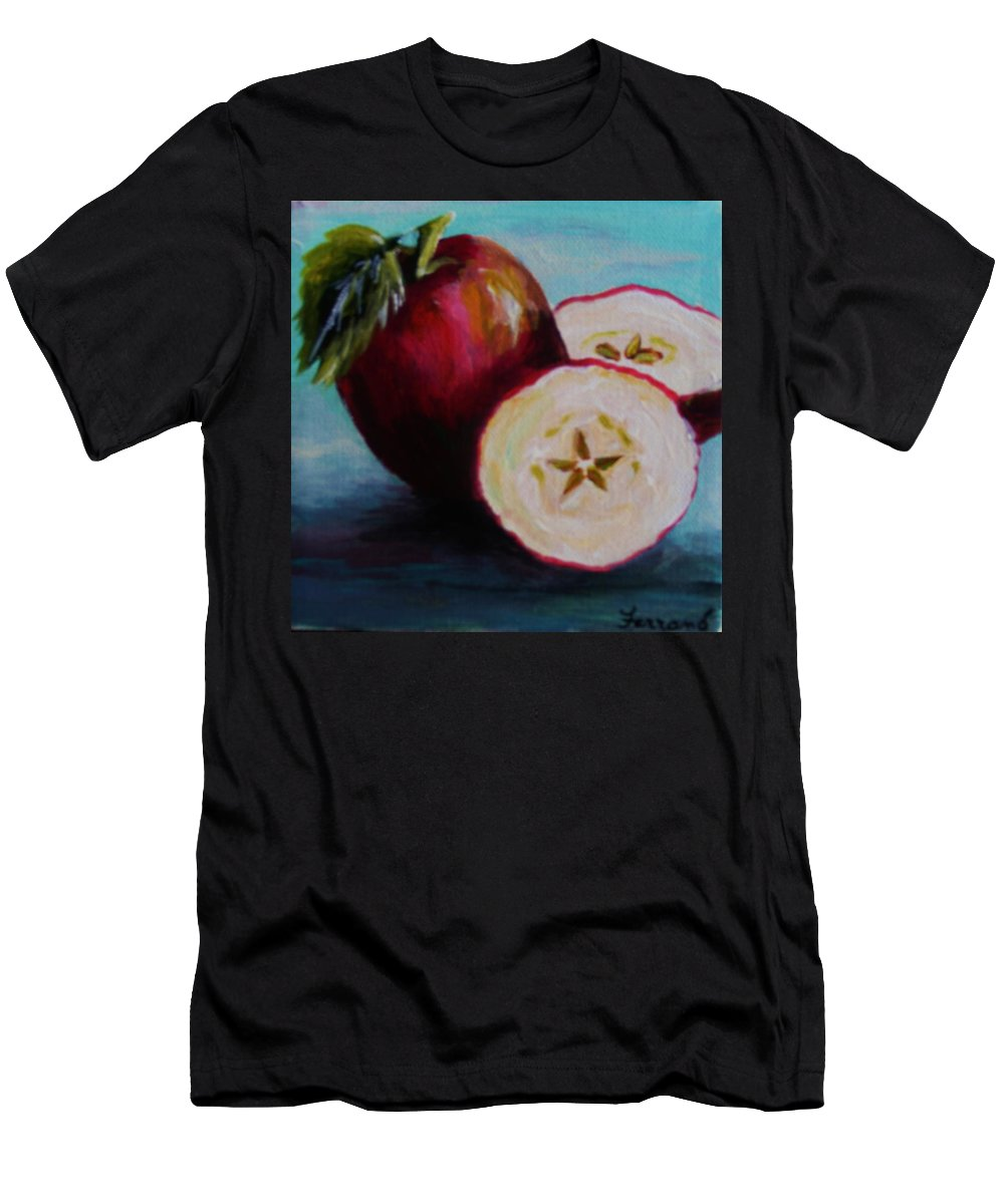 Apple Men's T-Shirt (Athletic Fit) featuring the painting Apple Magic by Karen Ferrand Carroll