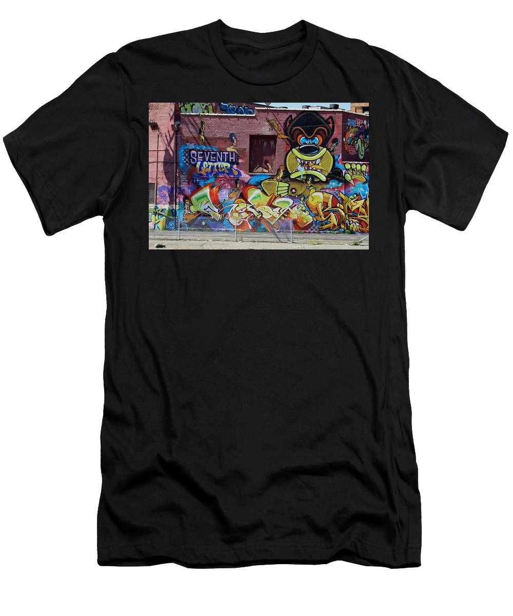 Landscape Men's T-Shirt (Athletic Fit) featuring the photograph Art In The City by Dennis Pintoski
