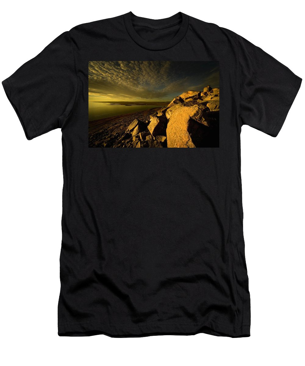 Canada Men's T-Shirt (Athletic Fit) featuring the photograph Artic Landscape by Darren Greenwood