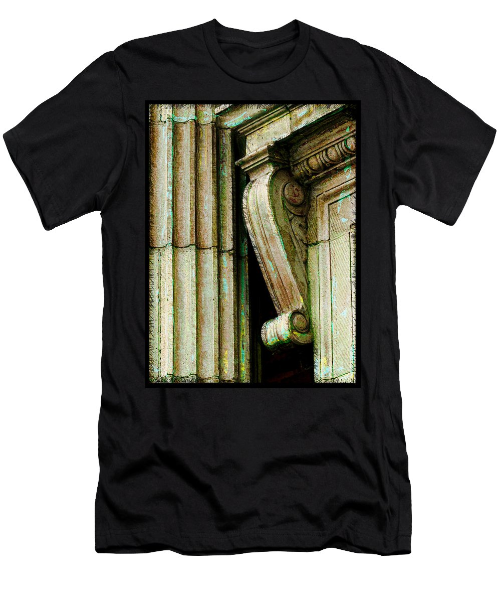 Arcitecture Men's T-Shirt (Athletic Fit) featuring the photograph Artsy Elements by Debbie Portwood