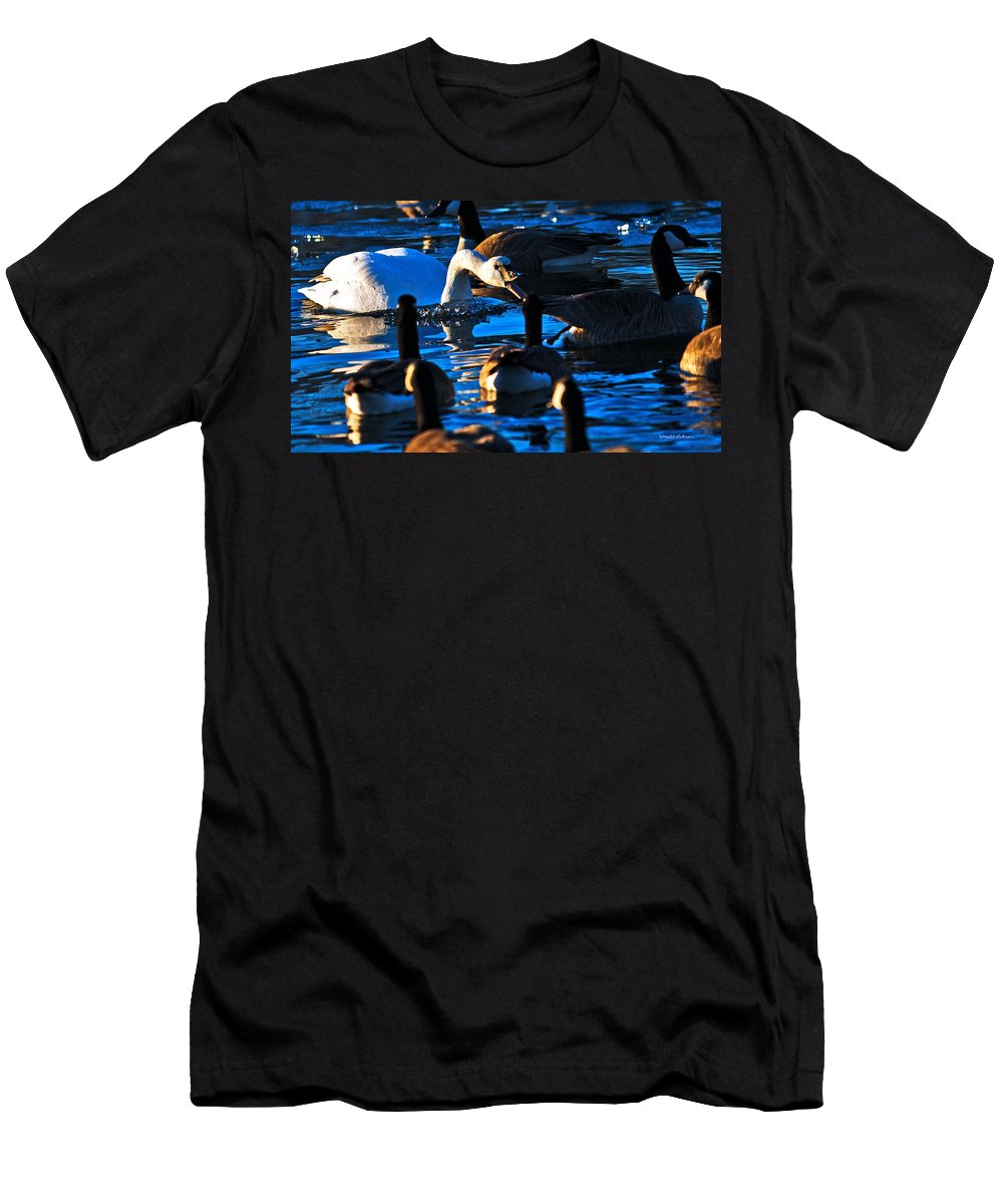 Lakeside Men's T-Shirt (Athletic Fit) featuring the photograph Attack by Edward Peterson