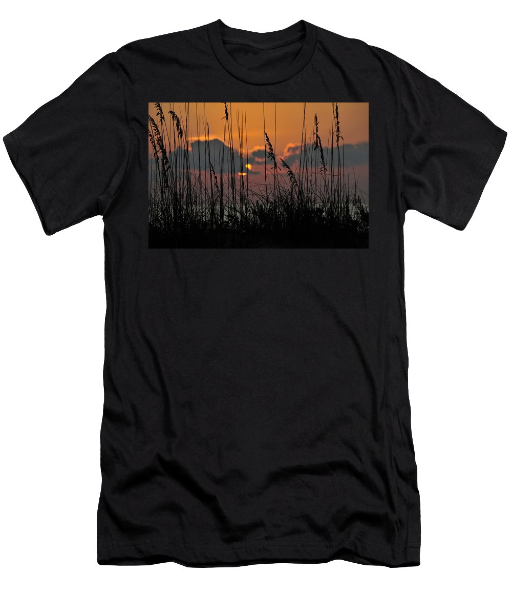 Fine Art Photography Men's T-Shirt (Athletic Fit) featuring the photograph August Sunset by David Lee Thompson