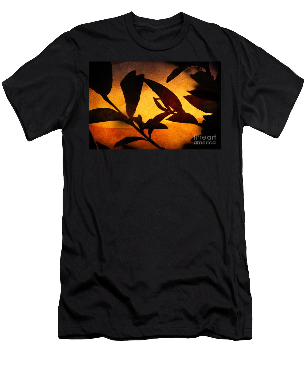 Autumn Men's T-Shirt (Athletic Fit) featuring the photograph Autumn Abstract by Ellen Cotton