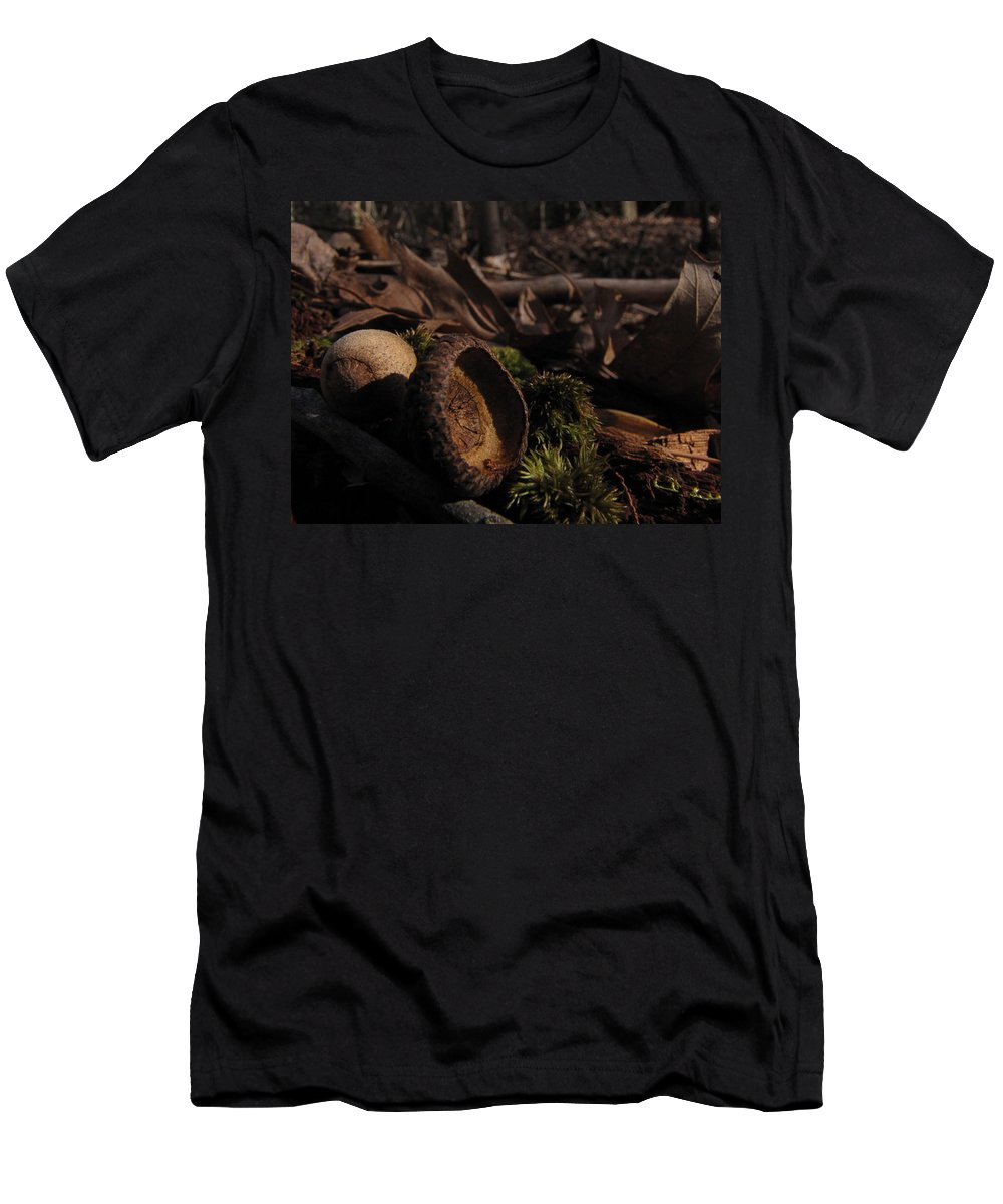 Autumn Men's T-Shirt (Athletic Fit) featuring the photograph Autumn And Acorns by Jessica Brawley