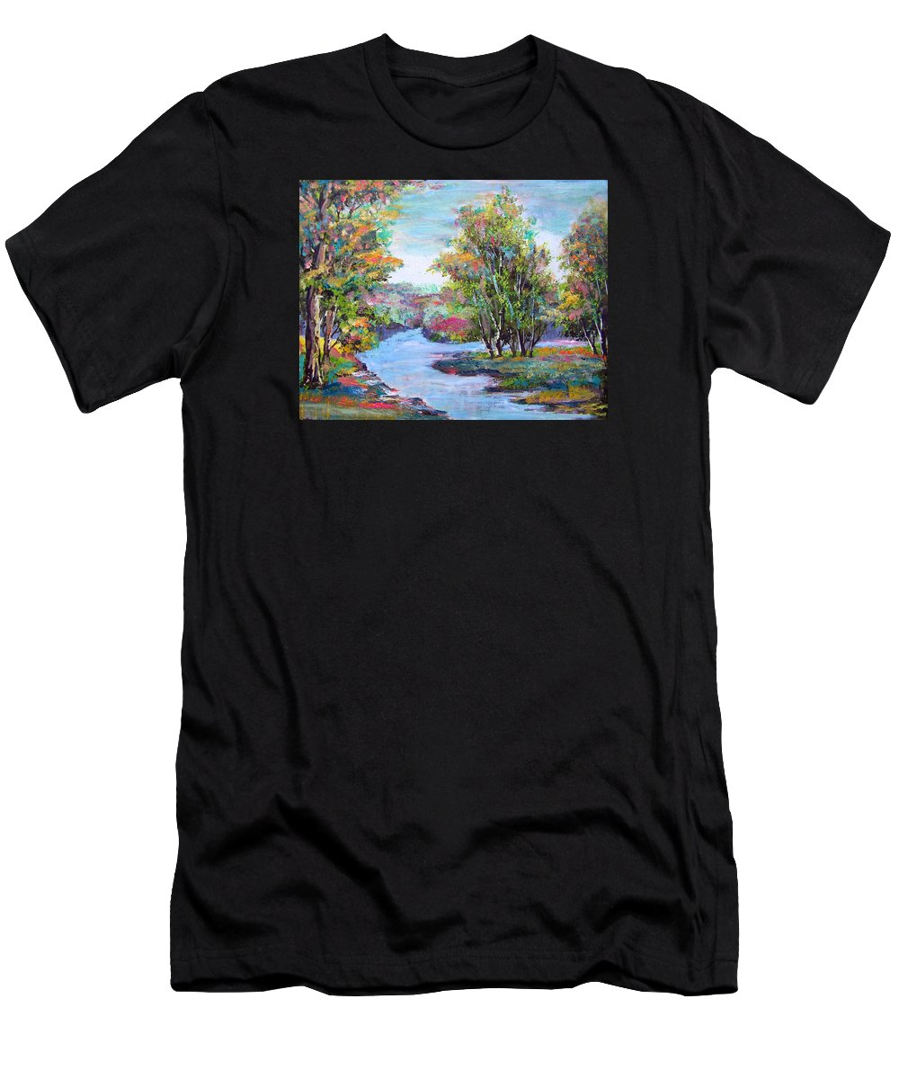 Autumn Men's T-Shirt (Athletic Fit) featuring the painting Autumn Brilliant Color by Patricia Taylor