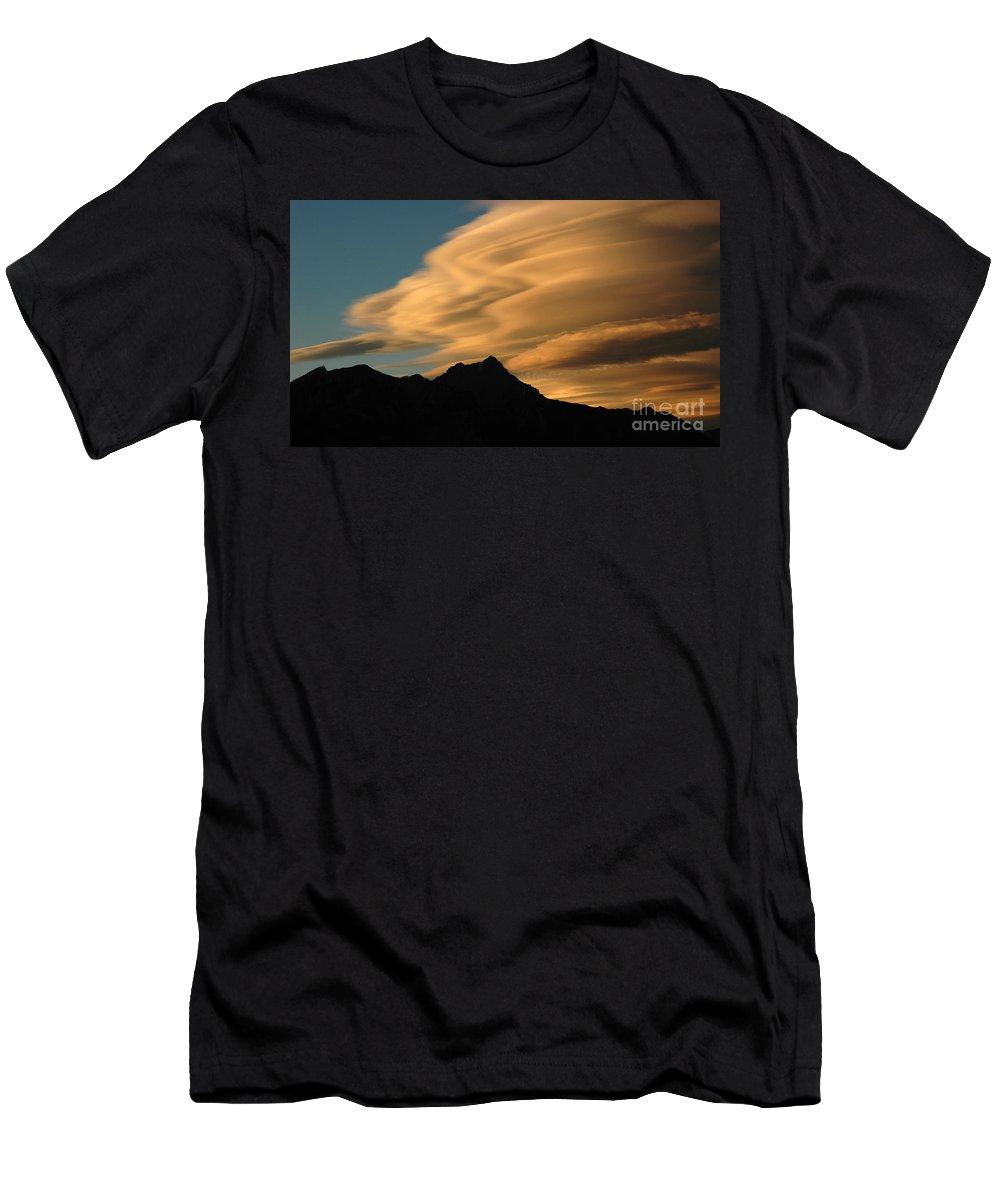 Autumn Men's T-Shirt (Athletic Fit) featuring the photograph Autumn Clouds Jasper 2 by Vivian Christopher