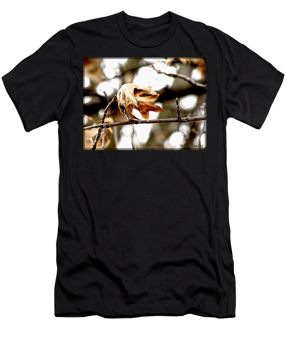 Nature Men's T-Shirt (Athletic Fit) featuring the photograph Autumn Leftovers by Debbie Portwood