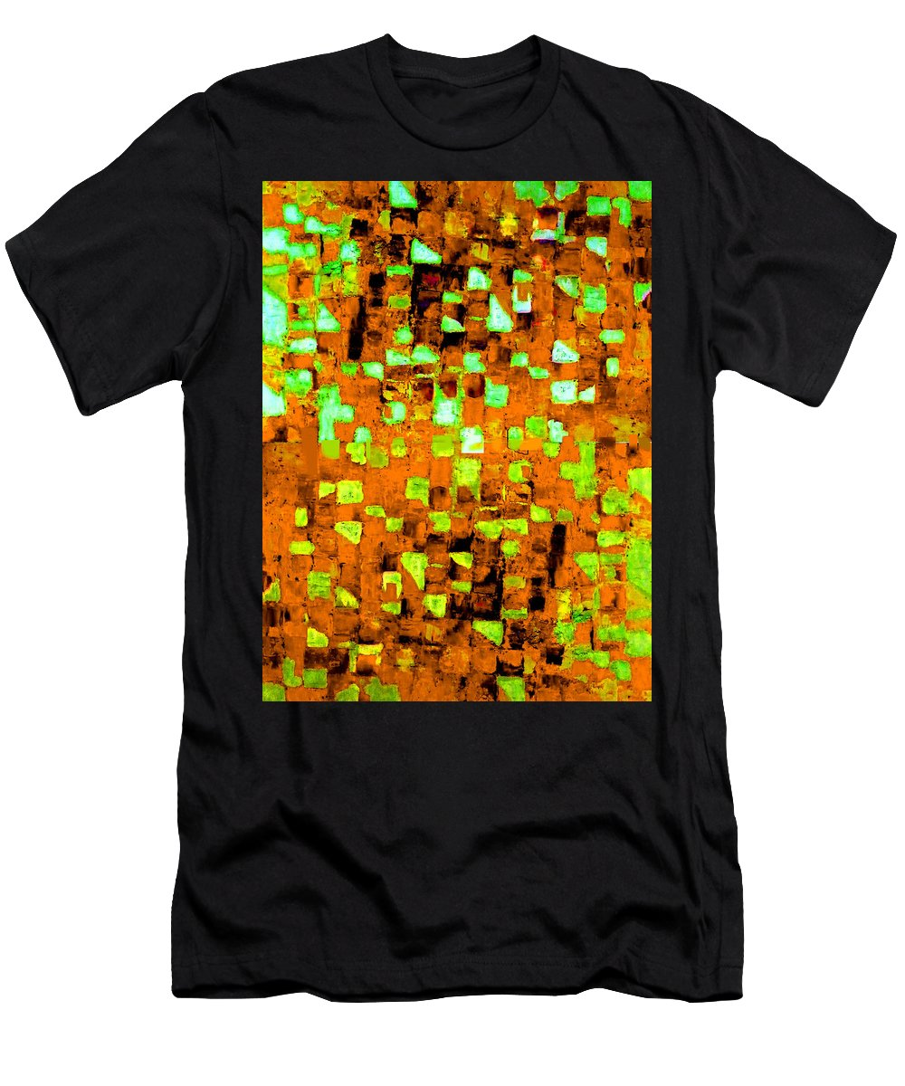 Australian Men's T-Shirt (Athletic Fit) featuring the painting Autumns Wake 1 by Giro Tavitian