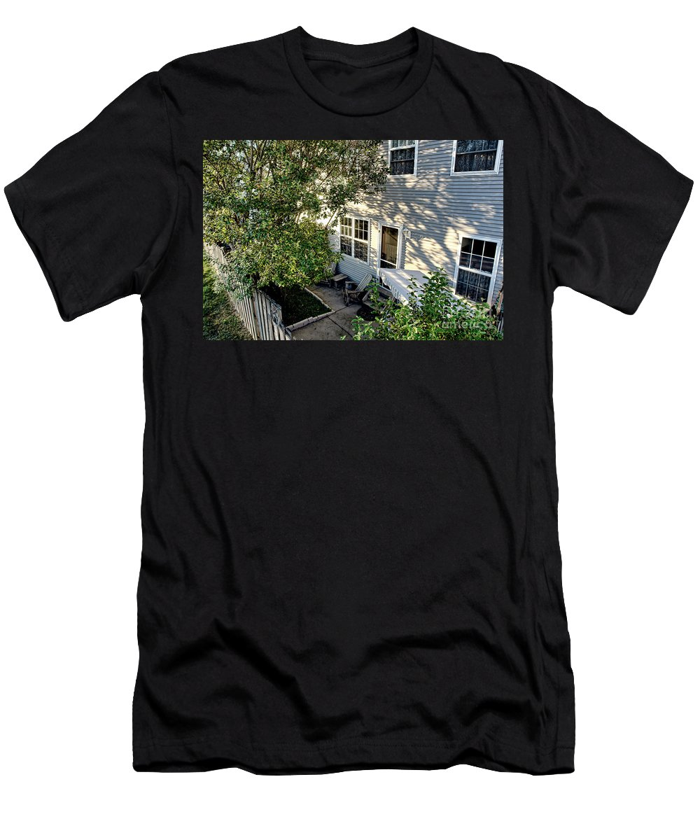 Men's T-Shirt (Athletic Fit) featuring the photograph Backyard by Olivier Le Queinec