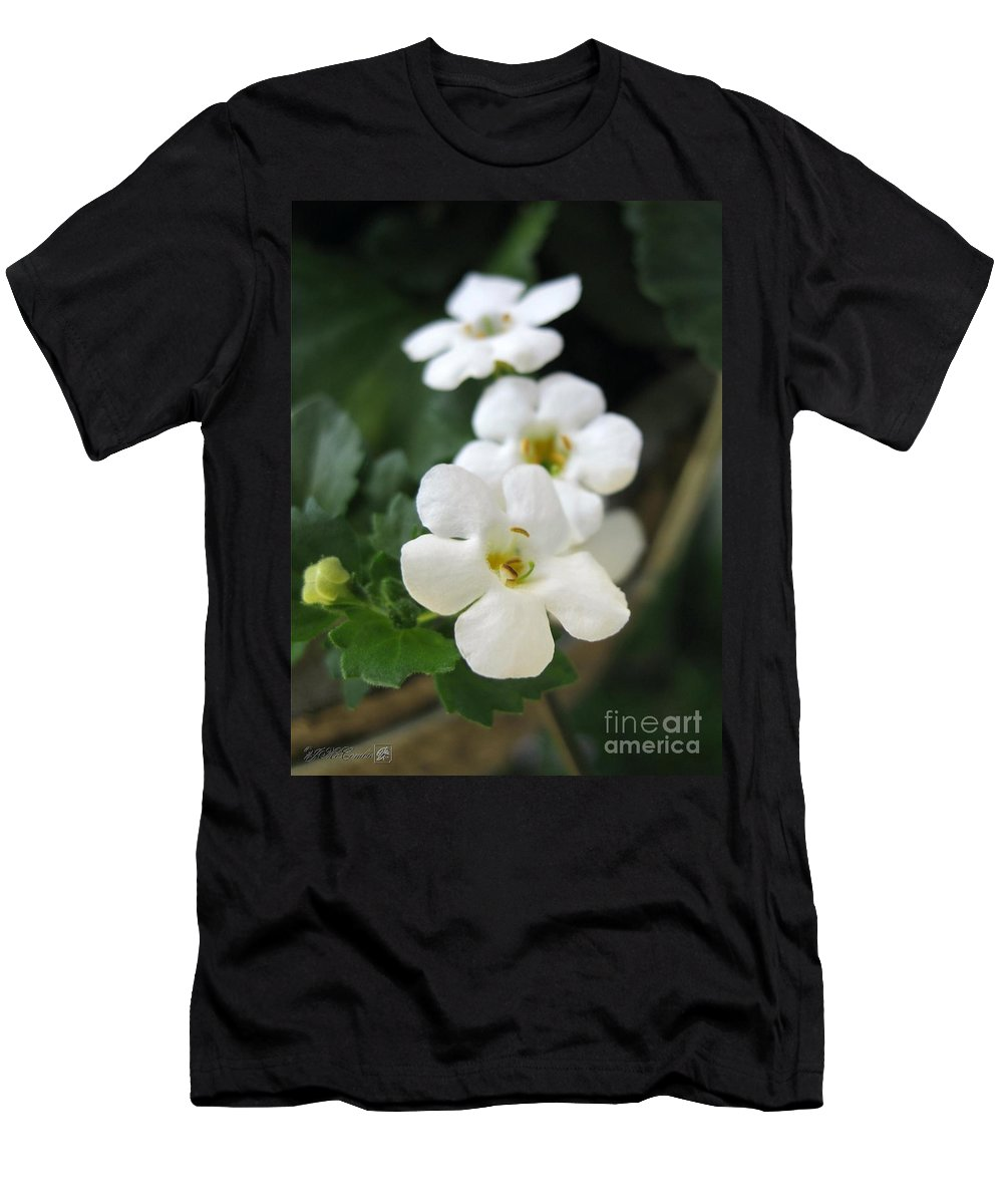 Bacopa Men's T-Shirt (Athletic Fit) featuring the photograph Bacopa Named Snowtopia by J McCombie