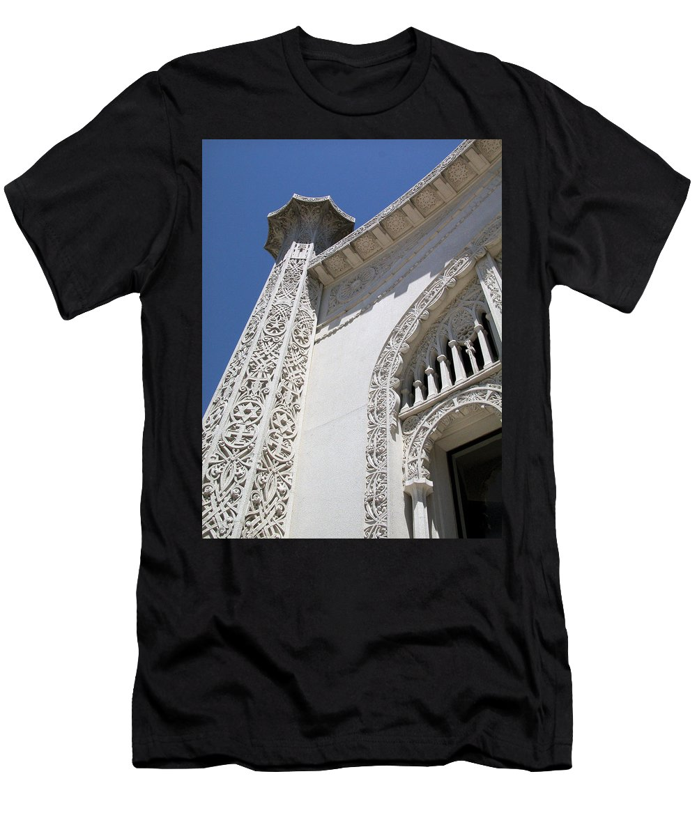 Baha'i Men's T-Shirt (Athletic Fit) featuring the photograph Baha'i Temple Wilmette by Rudy Umans