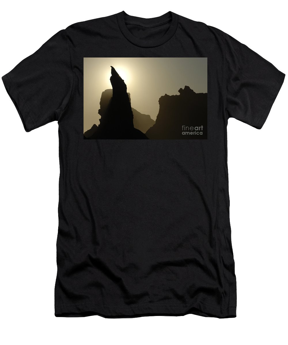 Bandon Beach Men's T-Shirt (Athletic Fit) featuring the photograph Bandon Beach Silouette by Bob Christopher