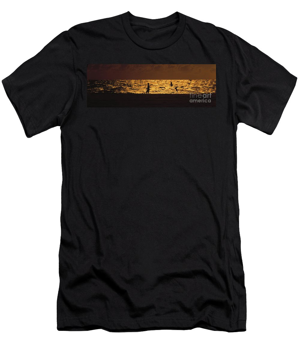 Beach Men's T-Shirt (Athletic Fit) featuring the photograph Beach Boy by Mike Nellums