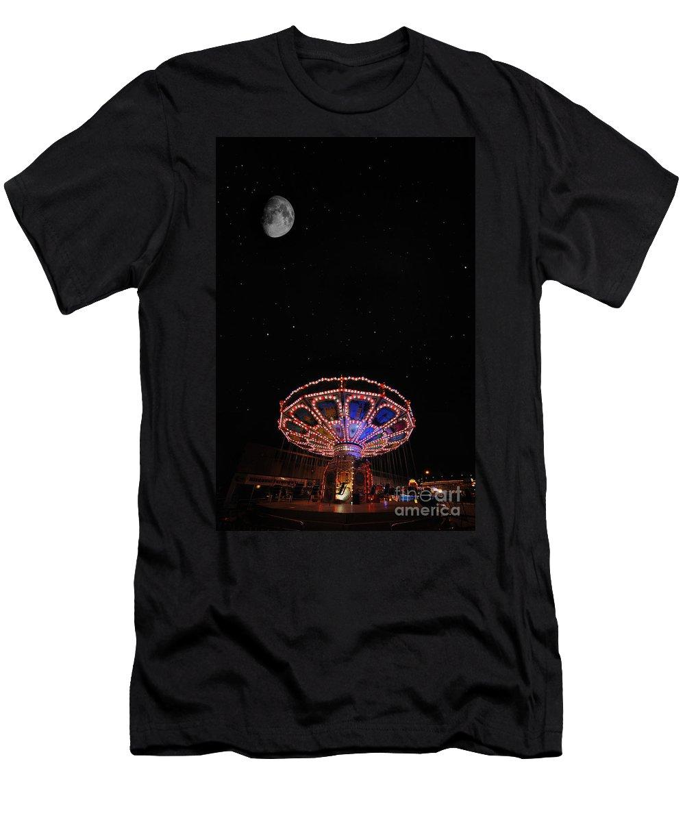 Yhun Suarez Men's T-Shirt (Athletic Fit) featuring the photograph Beam Me Up by Yhun Suarez