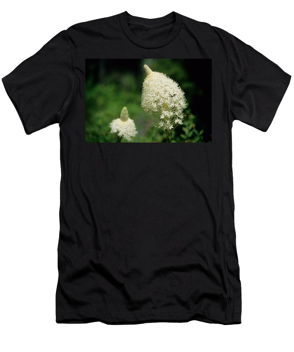 Flora Men's T-Shirt (Athletic Fit) featuring the photograph Bear Grass Blooms by One Rude Dawg Orcutt