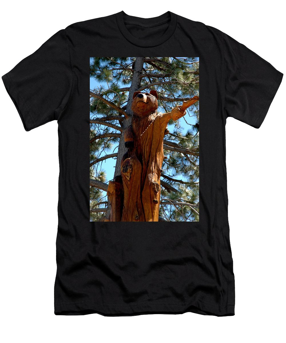 Usa Men's T-Shirt (Athletic Fit) featuring the photograph Bear Look Out by LeeAnn McLaneGoetz McLaneGoetzStudioLLCcom