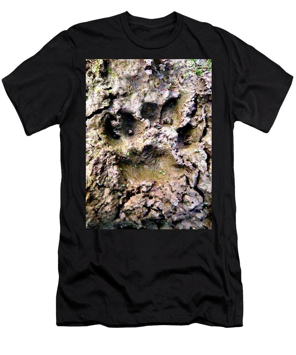 Bear Men's T-Shirt (Athletic Fit) featuring the photograph Bears Here by Art Dingo