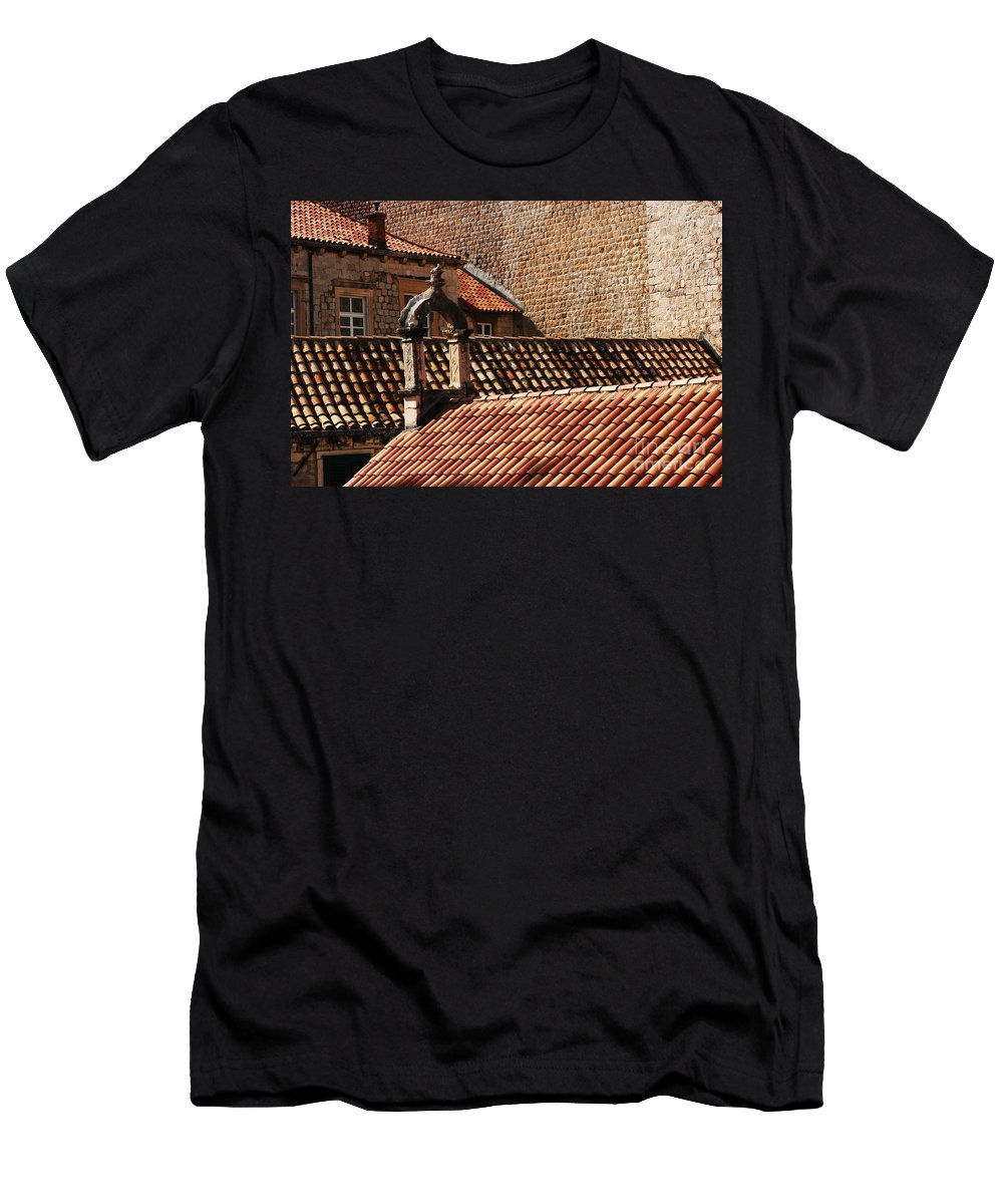 Dubrovnik Men's T-Shirt (Athletic Fit) featuring the photograph Beauty Of Dubrovnik 2 by Bob Christopher